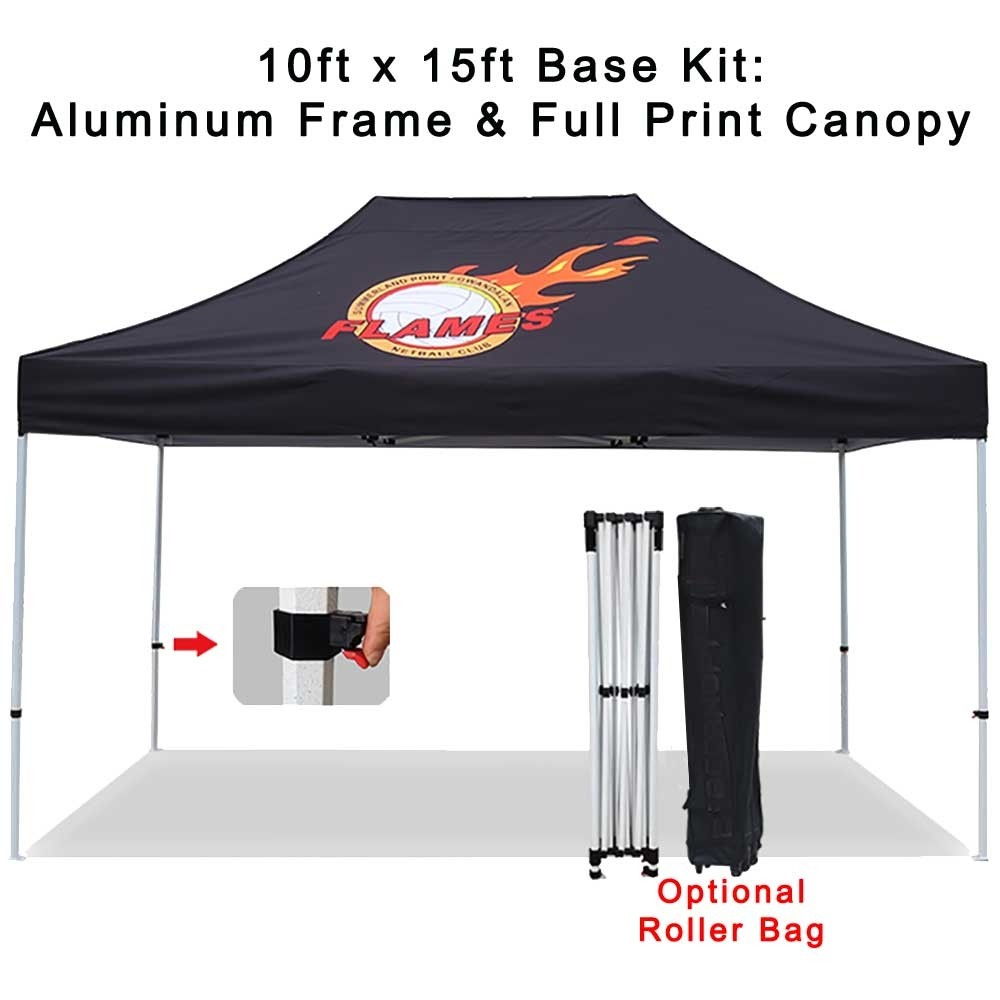15ft x10ft Pop-Up Tent - Frame & Canopy