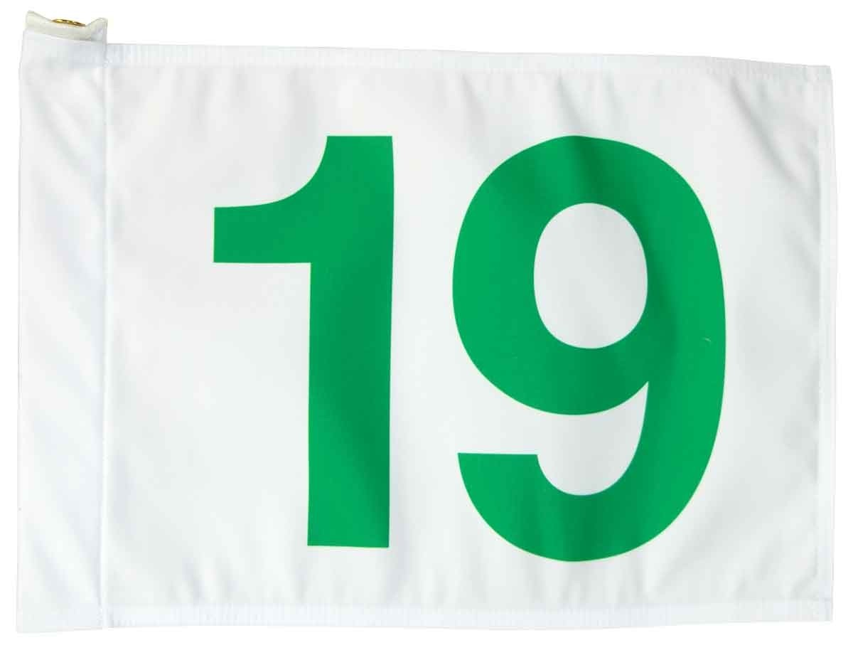 Number 19 Golf Flag