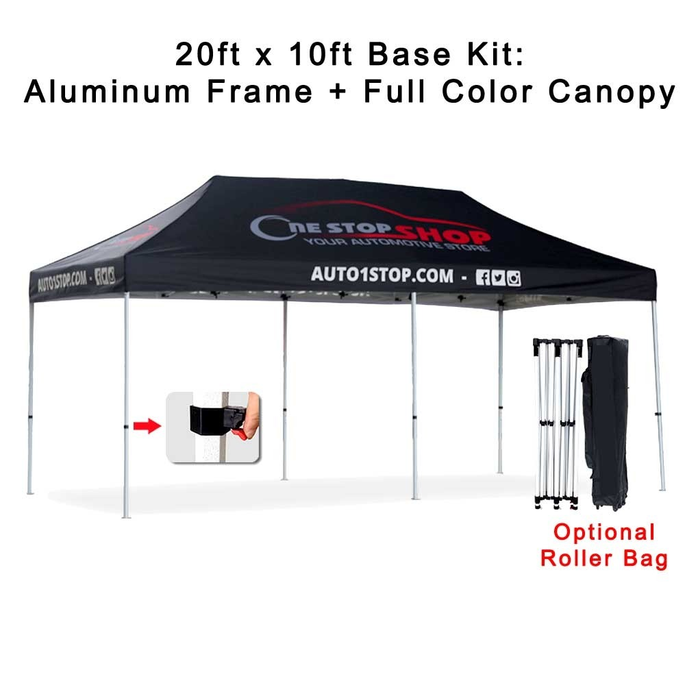 20ft x10ft Pop-Up Tent - Frame + Canopy