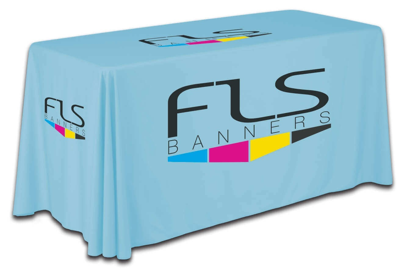 6 Foot Custom Drape Table Cover - Bar Height