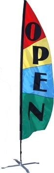 8.5 Open Feather Flag - Panel