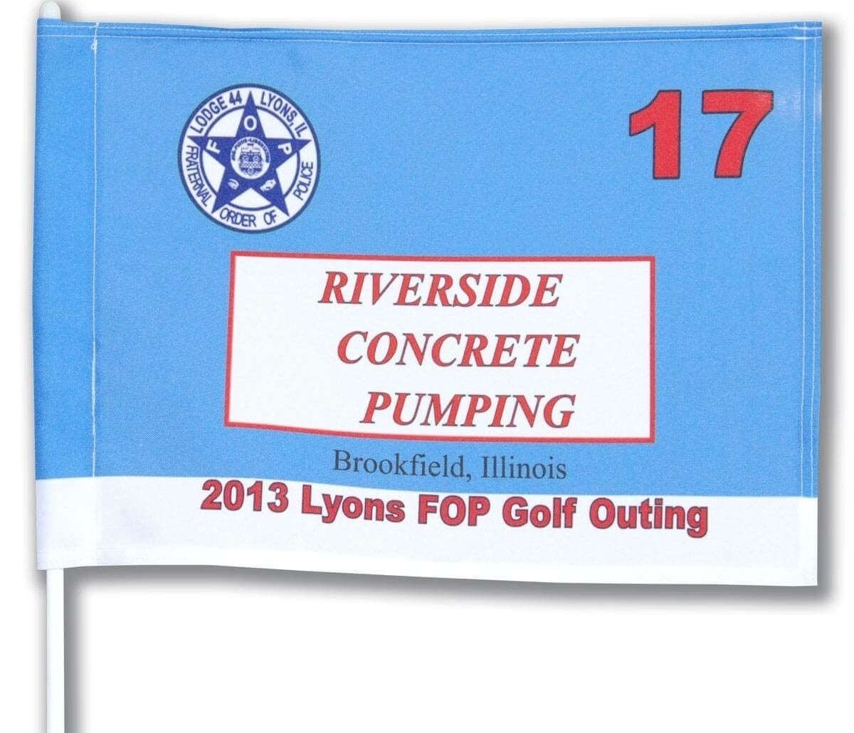 Custom Golf Flag - Sponsor or Different Logos - Tube Insert