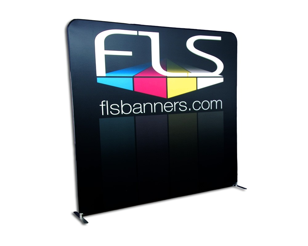 8-foot tension frame display