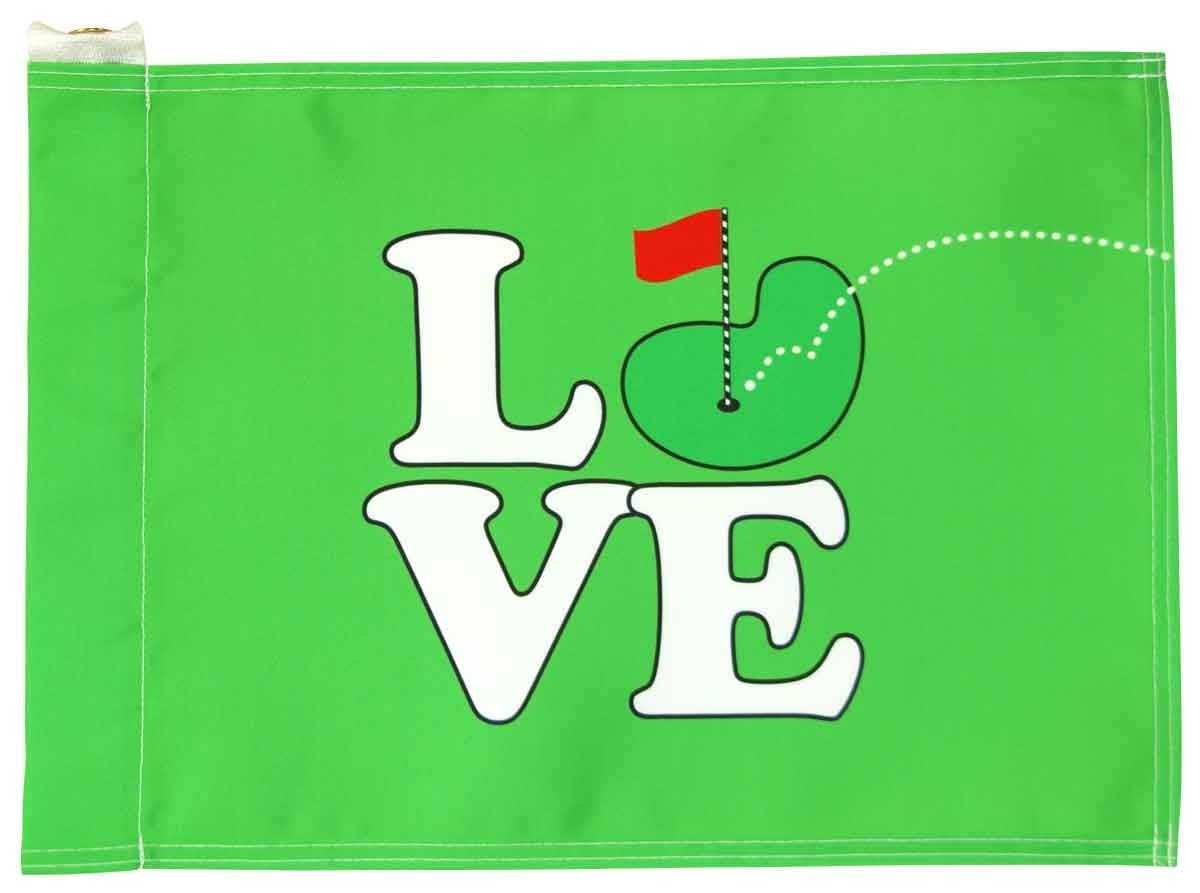 Love Golf Flag - Green