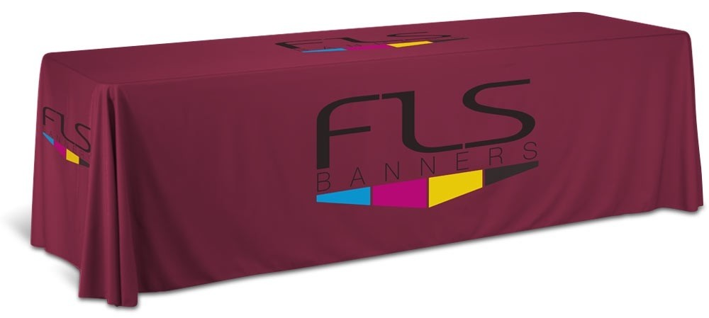 8 Foot Custom Drape Table Cover - Standard Height