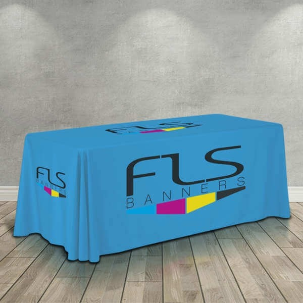 6 Foot Custom Drape Table Cover - Standard Height