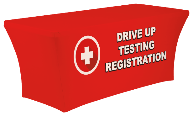 Drive Up Testing Registration Stretch Table Cover