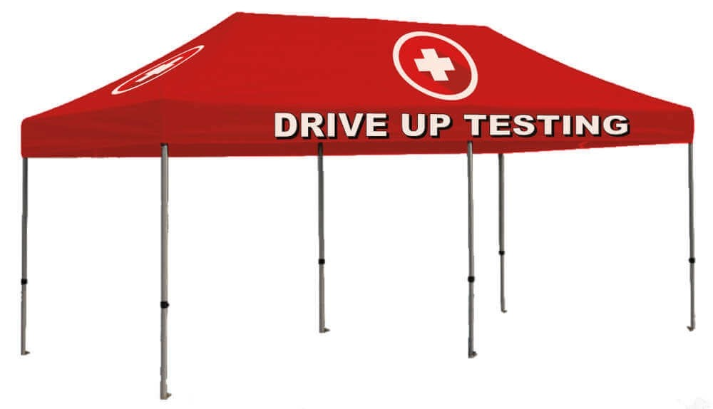 Drive Up Testing 10ft x 20ft Outdoor Shelter