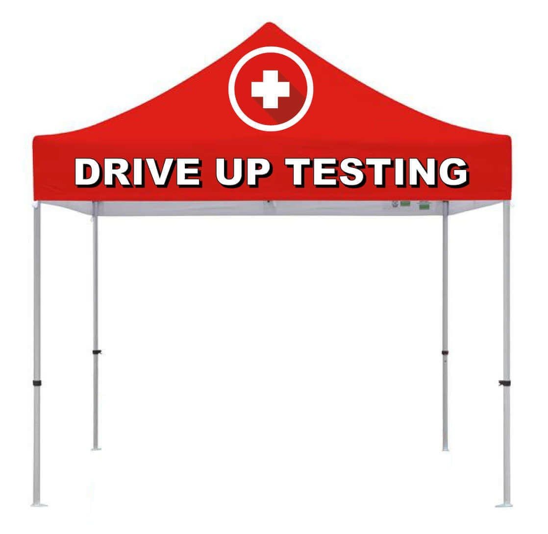 Drive Up Testing 10ft x 10ft Outdoor Shelter