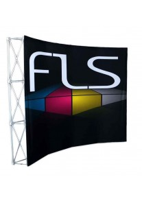 Curved Fabric Popup Display 10ft Frame