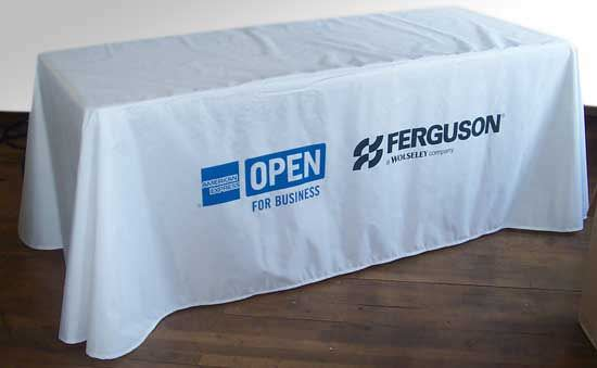 Nylon Table Cover, With  2 Color Screen Print Image