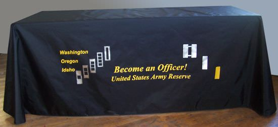 National Guard, Become An Officer, 3 Sided Draped Table Cover