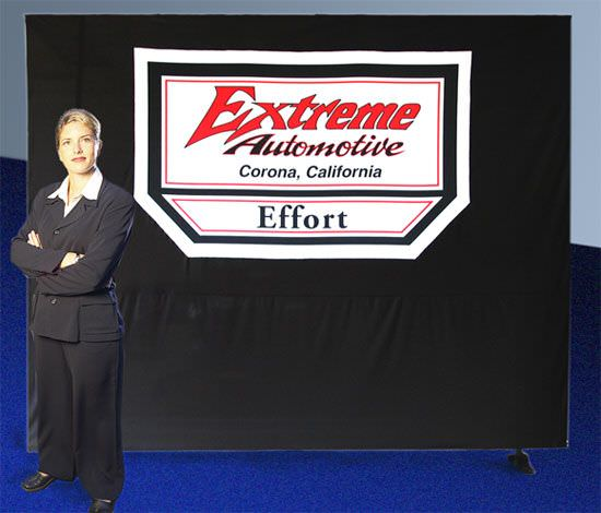 Extreme Auto, Knit Polyester Trade Show Back Drop