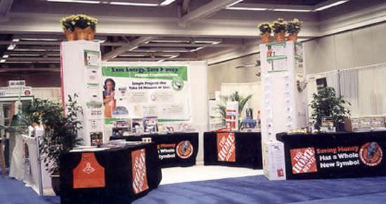 Trade Show Booth With DyeLux Table Covers