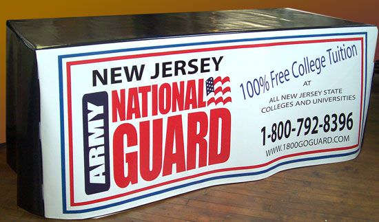 New Jersey National Guard  4 Sided Vinyl Table Cover