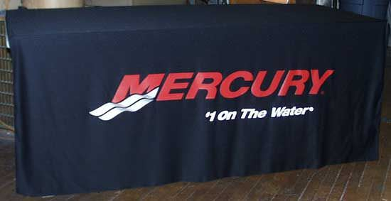 Top And Front Table Cover, Mercury Marine