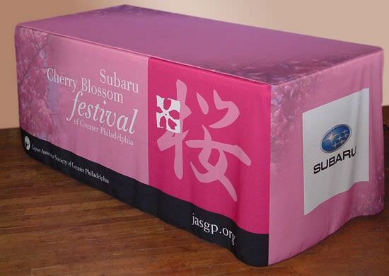Subaru 4 Sided Full Color Polyester Table Cover