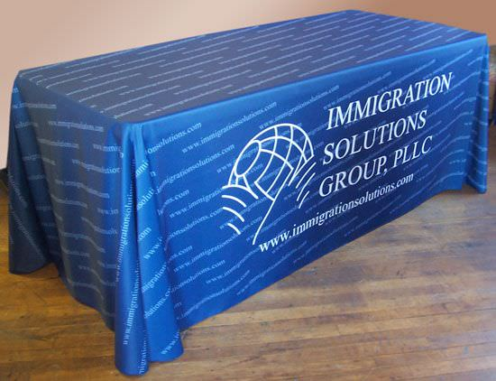 Patterned All Over Print Draped Table Drape