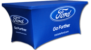 Example of Table Cover with Logo
