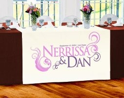 Custom Wedding Table Banners