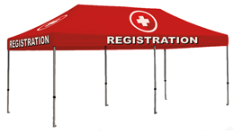 REGISTER HERE - 20x10 Popup Tent