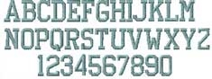 Athletic Embroidered Font Options