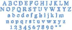 Cooper Dak Embroidered Font Options