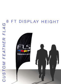 Choose Feather Flag Size