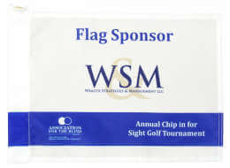 Custom Golf Flag - Special Event - Same Logo