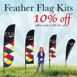 Feather Flag Kits 10% off